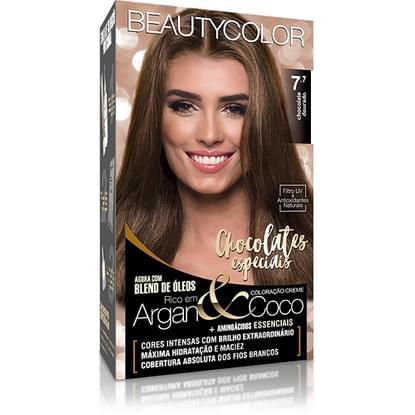 Imagem de Tintura permanente beauty color 7.7 chocolate dourado unit