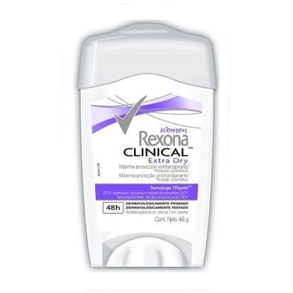 Imagem de Desodorante em creme rexona 48g feminino clinical extra dry unit