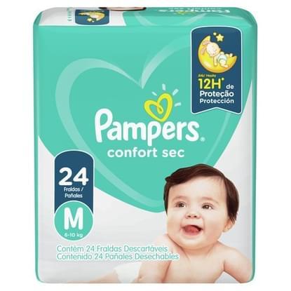 Imagem de Fralda infantil pampers confort c/24 m unit
