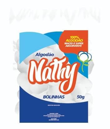 Imagem de Algodão puro hidrófilo 100% macio nathy 50g bola
