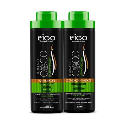 Imagem de Kit shampoo + condicionador eico coco 800ml