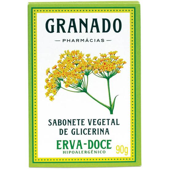 Imagem de Sabonete em barra glicerinado granado 90g glicerina erva doce