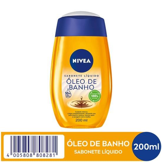 Imagem de Sabonete líquido uso diário nivea 200ml bath care relaxante