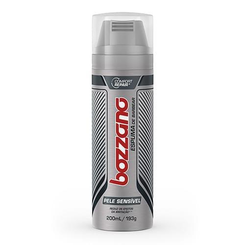 Imagem de Espuma de barbear em tubo bozzano 190g pele sensível
