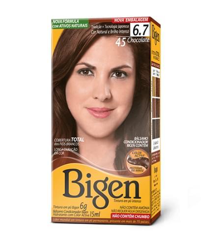 Imagem de Tintura permanente bigen 4.5 chocolate