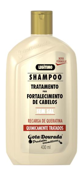 Imagem de Shampoo uso diário gota dourada 430ml químicamente tratados