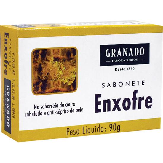 Imagem de Sabonete em barra glicerinado granado 90g enxofre
