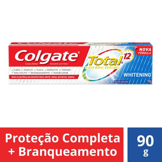 Imagem de Creme dental terapeutico colgate 90g total 12 whitening gel