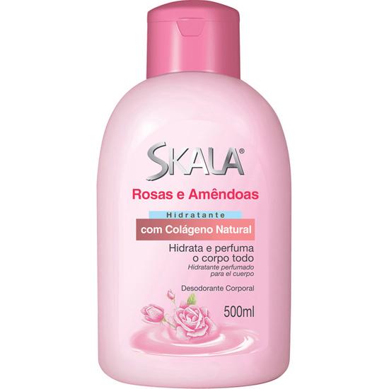 Imagem de Loção corporal hidratante skala 500ml rosas amêndoas
