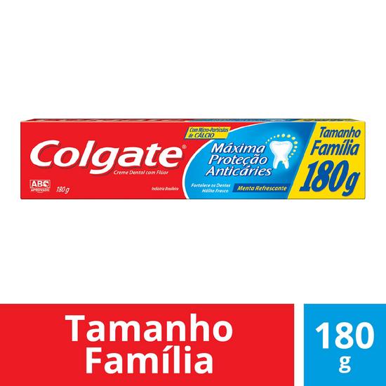 Imagem de Creme dental tradicional colgate 180g maxima proteção anticaries