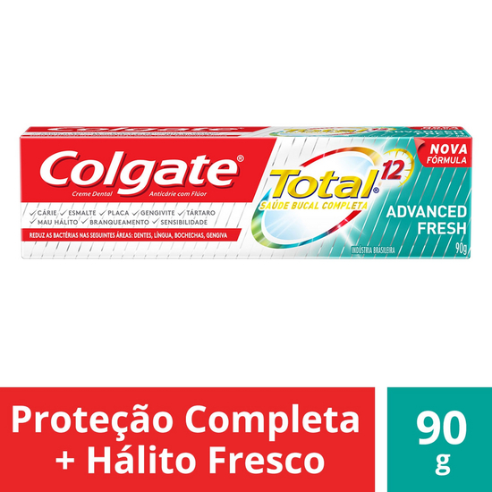 Imagem de Creme dental terapeutico colgate 90g total 12 advanced fresh