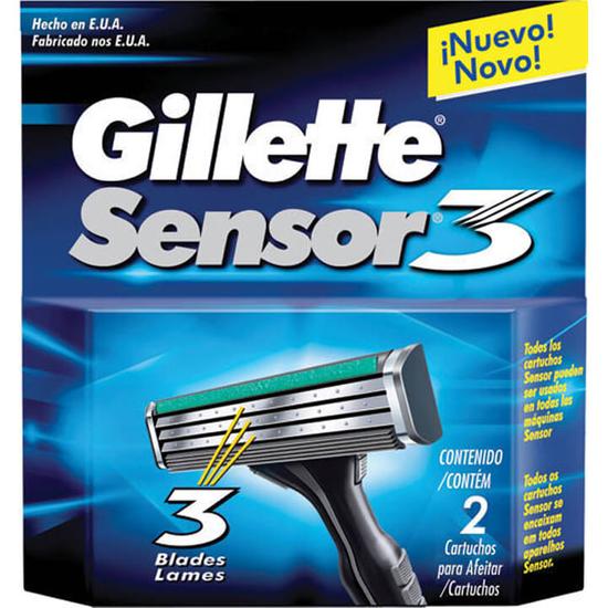 Imagem de Carga barbear gillette sensor c/2 sensor 3