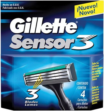 Imagem de Carga barbear gillette sensor c/4 sensor 3