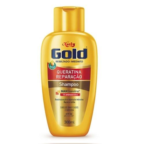 Imagem de Shampoo uso diário niely gold 300ml max queratina