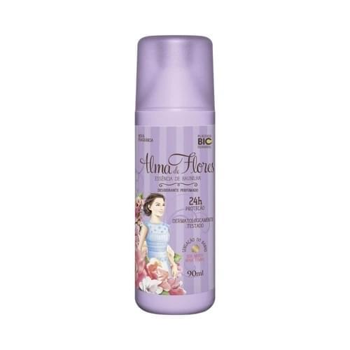 Imagem de Desodorante spray alma de flores 90ml feminino baunilha