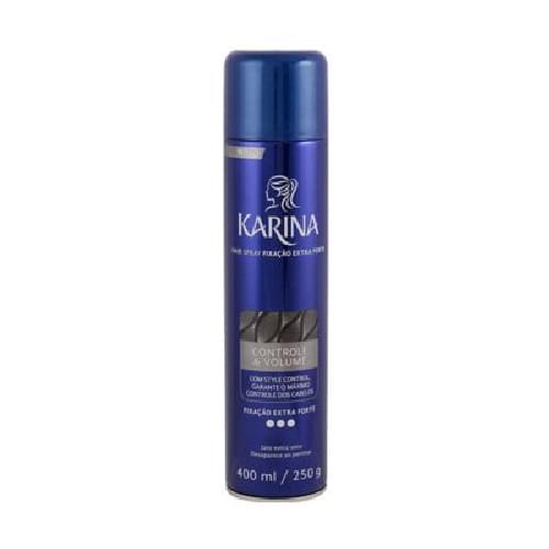 Imagem de Hair spray fixador karina 400ml ceramidas forte