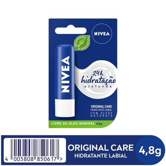 Imagem de Protetor solar labial nivea 4,8g lip care essencial