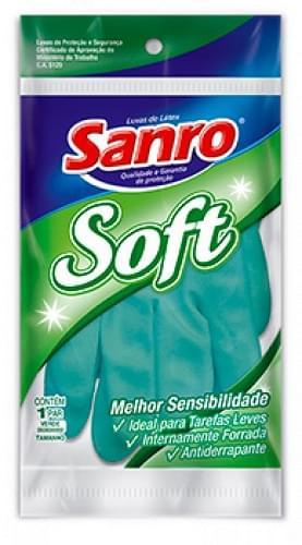Imagem de Luva uso geral sanro soft verde m