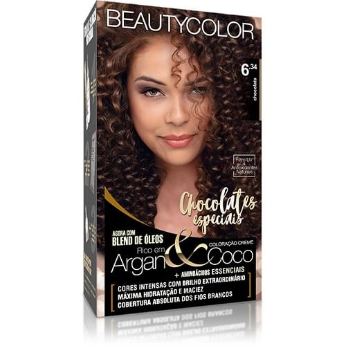 Imagem de Tintura permanente beauty color 6.34 chocolate