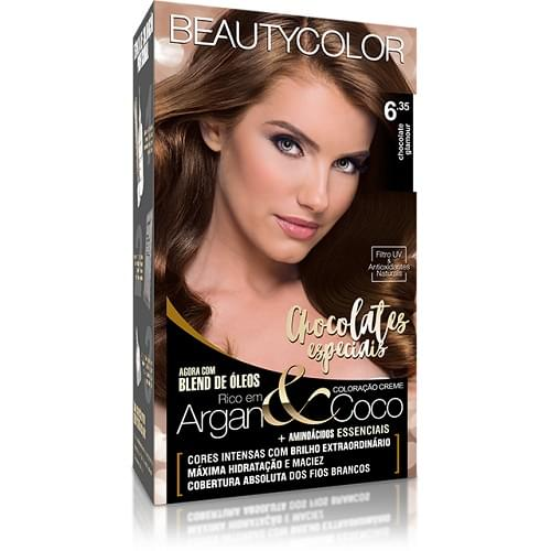 Imagem de Tintura permanente beauty color 6.35 chocolate glamour