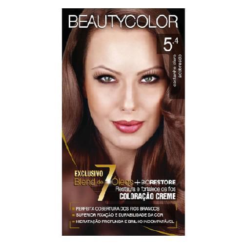 Imagem de Tintura permanente beauty color 5.4 castanho claro acobreado