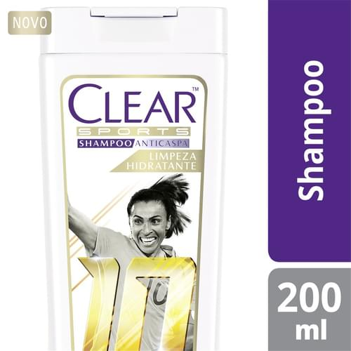 Imagem de Shampoo anti caspa clear 200ml limpeza hidratante