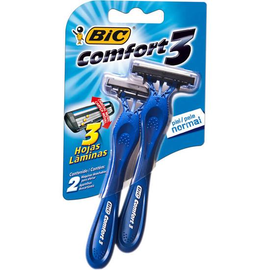 Imagem de Aparelho barbear bic c/2 comfort3 pele normal