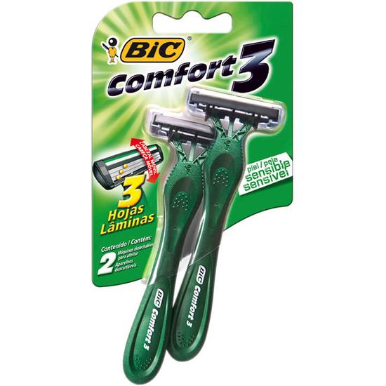 Imagem de Aparelho barbear bic c/2 comfort3 pele sensível