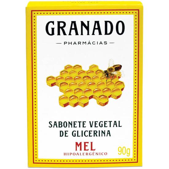Imagem de Sabonete em barra glicerinado granado 90g glicerina mel