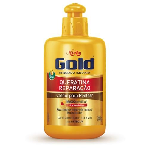 Imagem de Creme para pentear niely gold 280g max queratina