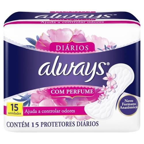 Imagem de Protetor diário sem abas always c/15 regular