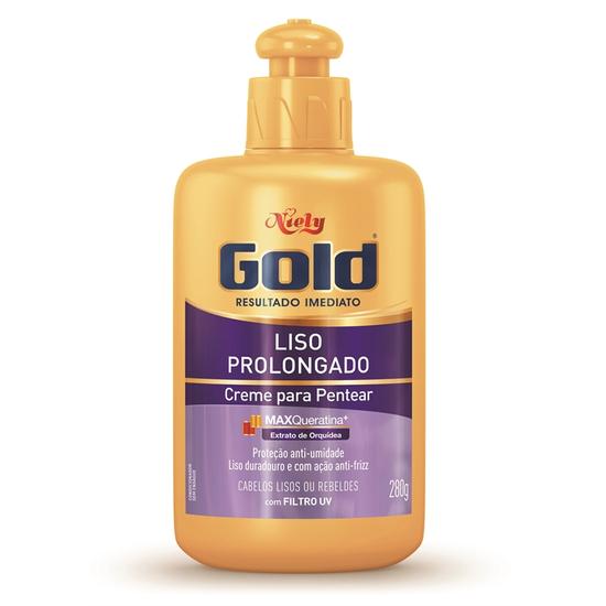 Imagem de Creme para pentear niely gold 280g liso prolongado