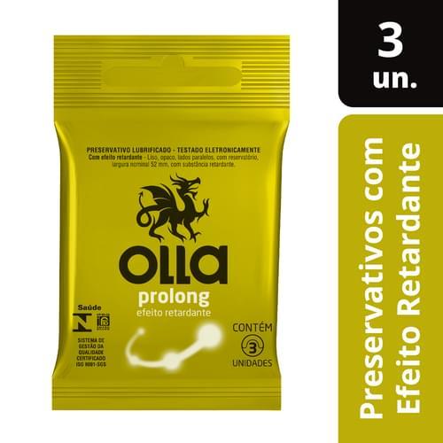 Imagem de Preservativo lubrificado olla c/3 prolong