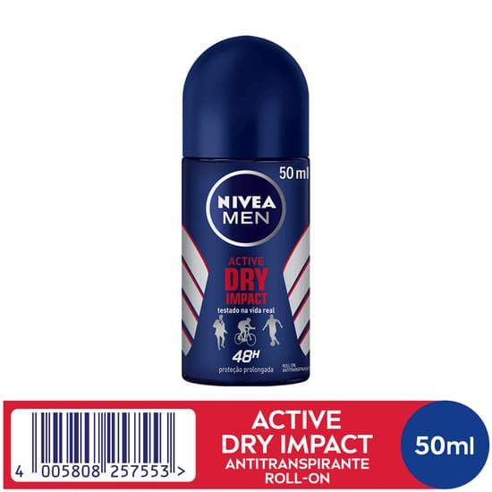 Imagem de Desodorante roll-on nivea 50ml masculino dry impact