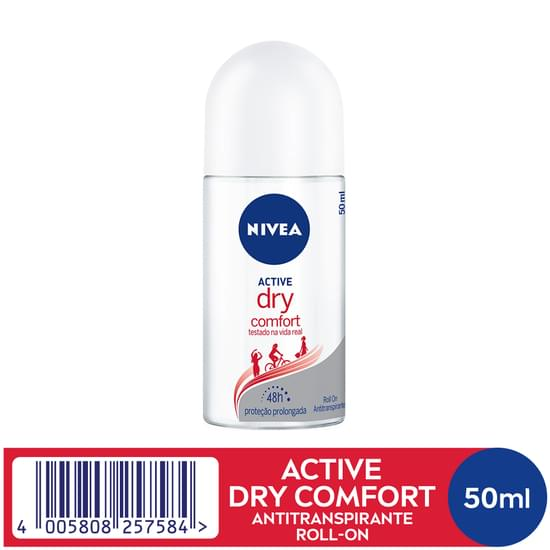 Imagem de Desodorante roll-on nivea 50ml feminino dry comfort