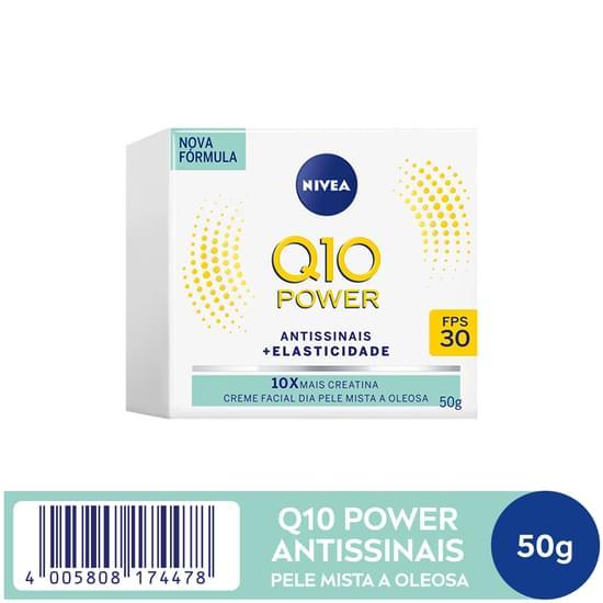 Imagem de Creme facial anti-idade nivea 52g visage q10 light