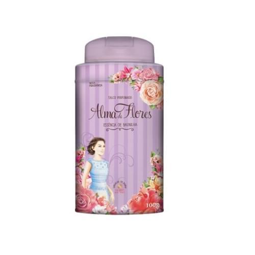 Imagem de Talco perfumado alma de flores 100g baunilha c/12