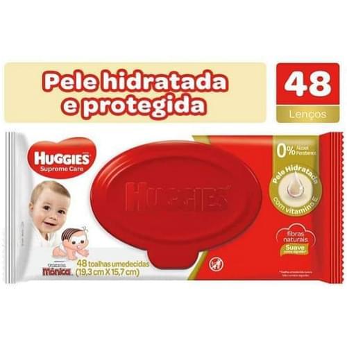 Imagem de Lenço umedecido sache huggies c/48 natural care