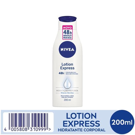 Imagem de Loção corporal hidratante nivea 200ml express pele normal