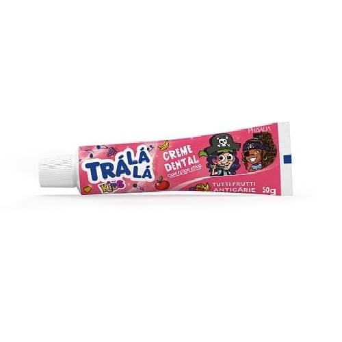 Imagem de Creme dental gel trá lá lá 50g tutti frutti