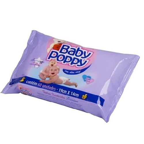 Imagem de Lenço umedecido sache baby poppy c/60 toalha