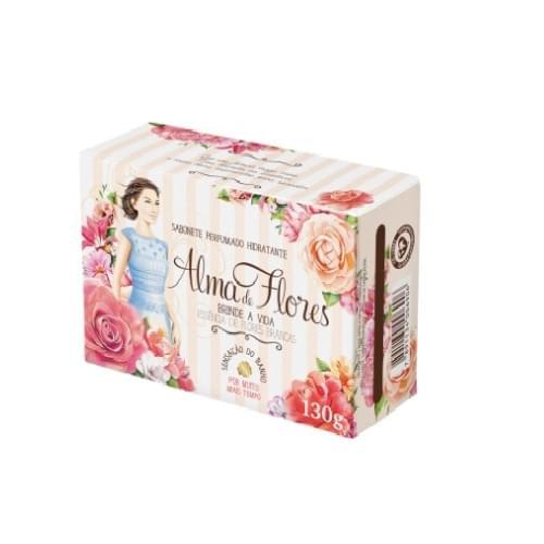 Imagem de Sabonete em barra perfumado alma de flores 130g champagne