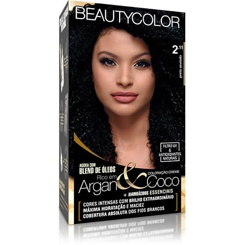 Imagem de Tintura permanente beauty color 2.11 preto azulado
