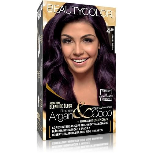 Imagem de Tintura permanente beauty color 4.20 violeta intenso