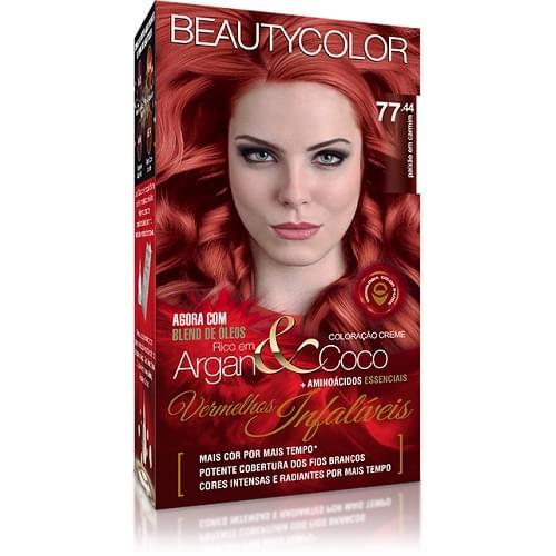 Imagem de Tintura permanente beauty color paixão em carmim