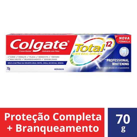 Imagem de Creme dental terapeutico colgate 70g total 12 professional whitening