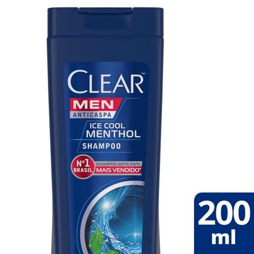 Imagem de Shampoo anti caspa clear 200ml ice cool menthol