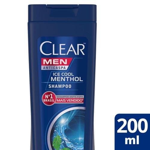 Imagem de Shampoo anti caspa clear 200ml ice cool menthol