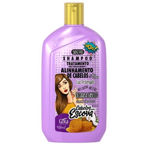 Imagem de Shampoo uso diário gota dourada 430ml escova
