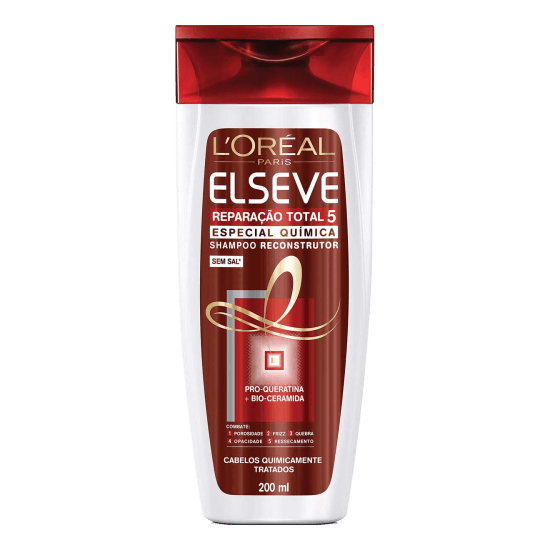 Imagem de Shampoo uso diário elséve 200ml reparação total5 química